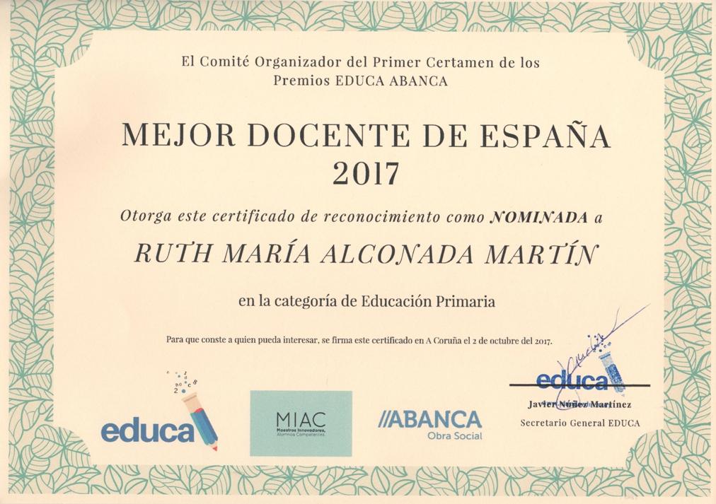 Nominación mejor docente